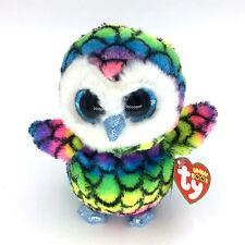 "Ty Beanie Boos 6"" Cute Claire Rainbow Owl Stuffed Animals Toys Child Gift"