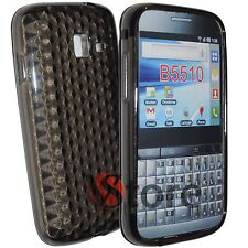 Cover Custodia Per SAMSUNG Galaxy Y Pro B5510 Gel TPU Nero Diamond + Pellicola
