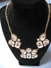 SIMPLY VERA * VERA WANG NECKLACE * GOLD & RHINESTONE STATEMENT * TAG  $34 * NWT