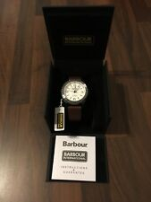 Mens Barbour Wrist Watch Hartland New with Box and Tags Brown Leather RRP £180