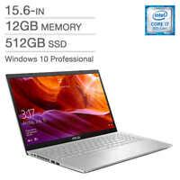 "ASUS Laptop K509FA-Q72SP-CB 15.6"" Intel Core i7-8565U 12GB  512GB SSD Win10 Pro"