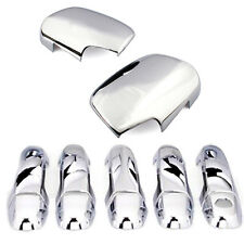 Fit For Toyota RAV4 06-12 Chrome Door Handle Cover Side Wing Mirror Molding Cap