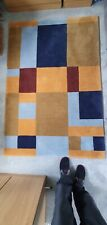 Wool Rug (100%) Large Colour Block
