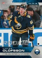 VICTOR OLOFSSON 2019 TOPPS NOW NHL STICKER Week 2 Buffalo Sabres