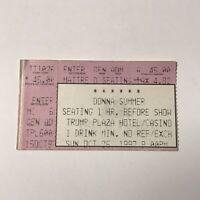 Donna Summer Trump Plaza Hotel Casino Concert Ticket Stub Vintage October 1997