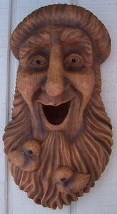 Bird House Woodsman Saint Francis NEW wall fence or tree mount polyresin rustic