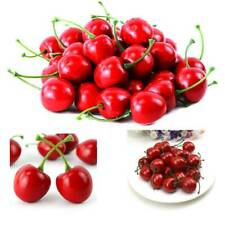 20 Pcs Fake Plastic Cherry Fruits Party Table Decorative Crafts Artificial Red