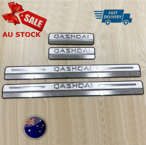 Outer Scuff Plate Car Door Sill Trim Protector For Nissan Qashqai 2015-2020