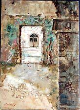 William Benecke - Original Oil on Board, Ocotepec, Cuernavaca, Morelos, Mexico
