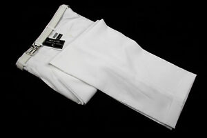 Mens Trousers White Dress Pants Pleated Slacks W/ White Belt New Sizes 30 to 42