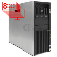 HP Z800 Multi 8-Monitor Computer/Desktop 6-Core/1TB HDD+ 256GB SSD/NVS 440/Win10