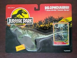 Vintage Jurassic Park Dilophosaurus Kenner 1993 NEW/SEALED MOC Mint on Card Nice