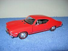 1968 CHEVROLET CHEVELLE SS 396 RED  1:24 WELLY OPENING DOORS & HOOD