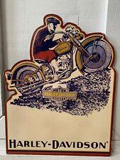 Harley-Davidson 1930 DL UL Motorcycle Vintage Clip Board Display Sign