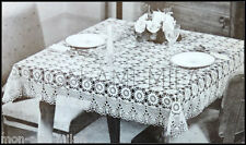 Vintage Coats Crochet Pattern • Pretty Lacy Tablecloth • Dining Table Cover 42""