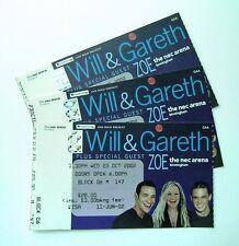 RARE Will Young & Gareth Gates Memorabilia Tickets Stub(s) Birmingham 23/10/02