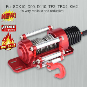 1/10 RC Crawler Metal Winch RC Accessories for SCX10 D90 D110 ❤gr