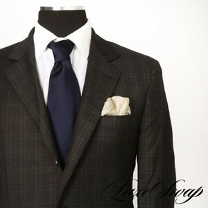 #1 MENSWEAR Brunello Cucinelli Charcoal Grey Double Windowpane 3Roll2 Jacket 50