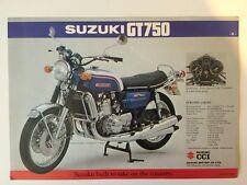 SUZUKI GT750 GT550 brochure depliant pubblicitario pieghevole Broschüre