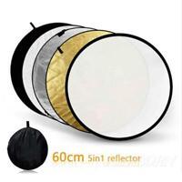 "5 in 1 60cm/24"" Photography Studio Collapsible Multi Disc Photo Light Reflector"