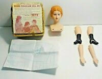 Shackman Bisque Porcelain Doll Kit Beth In Box With Clothing Pattern Vintage