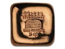 2 Oz. Geiger .999 Copper Poured Square Bar