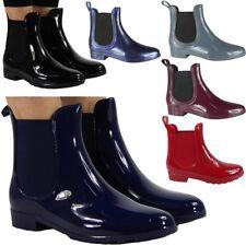 Ladies Ankle Boots Womens Wellington Rain Chelsea Wellies Flat Winter Shoes Size