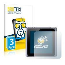 3x Apple iPod nano 2011 (6th. generation) Glass Film Screen Protector Protection