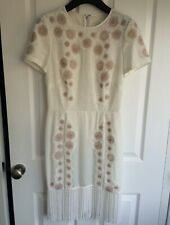 Elise Ryan Stunning cream floral lace mini dress - size 10