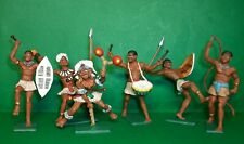 CHERILEA 60mm recast African Natives x 6, hand painted.