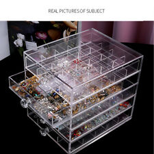 Acrylic Clear Cosmetic Organizer Makeup Case Holder Drawers Jewelry Storage Box