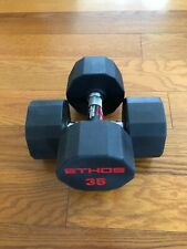 BRAND NEW 35LB PAIR OF RUBBER  HEX DUMBBELLS WEIGHTS