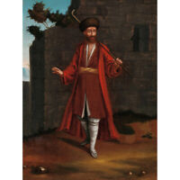Vanmour Man From The Bulgarian Coast Painting Canvas Wall Art Print Poster