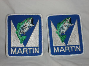 Fishing 2-NEW LARGE MARTIN FULLY EMBROIDERED  PATCHES