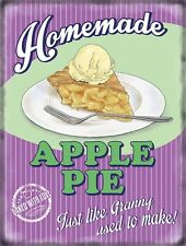 Apple Pie Homemade, 50's Dinner Kitchen Cafe Food Retro, Large Metal/Tin Sign