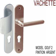 Poignées Porte GOLF 2 de VACHETTE Cylindre,Finition Argent,Complet,Prêt à Poser