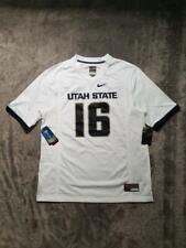 Men's Nike NCAA Utah State Aggies Game Football Jersey #16 White