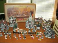 1999 Grandeur Noel 39 piece Victorian Village Set Collectors Edition