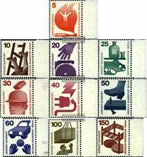 Berlin (West) 402A-411A Seitenrandstück (kompl.Ausg.) postfrisch 1971 Unfallverh