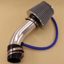 "Car Silver Air Intake Kit Pipe Diameter 3"" + Cold Air Intake Filter + Clamp"