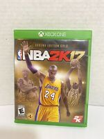 NBA 2K17 LEGEND EDITION GOLD (Microsoft Xbox One) Pre-owned KOBE BRYANT COVER