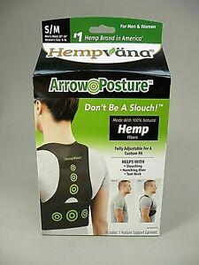 Hempvana  ~ Arrow Posture Support Garment made with Hemp fiber  ~ S/M New