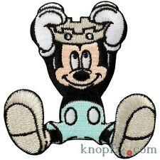 Applikation zum Aufbügeln Mickey Mouse mit Krone (#77285)