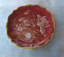 Rosenthal Porcelain Charger Pompadour Gold Tulips Peony Art Nouveau Superb