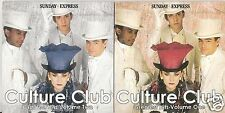 CULTURE CLUB - GREATEST HITS LIVE - 2 DISCS - SUNDAY EXPRESS PROMO CD