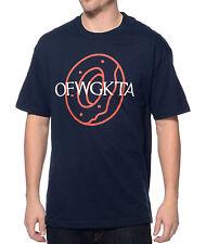 Odd Future OFWGKTA OF DONUT Logo T-Shirt Navy NWT 100% Authentic