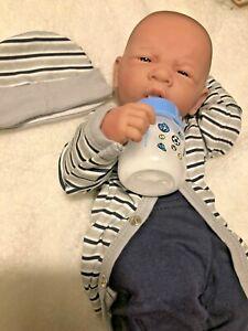 "AWW! BABY BOY ""Snuggle""! Preemie Life Like Reborn Pacifier Doll + Extras"