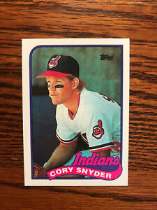 1989 Topps #80 Cory Snyder Baseball Card Cleveland Indians Raw
