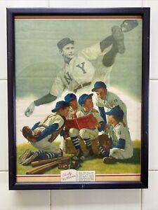 Vintage Brown and Bigelow Baseball HOF Christy Mathewson Artwork