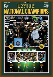 """BAYLOR WINS THE 2021 NATIONAL CHAMPIONSHIP 13""""x19"""" COMMEMORATIVE POSTER"""